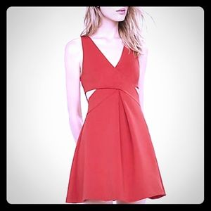 🆕️Express Criss-Cross Fit & Flare Dress, Red